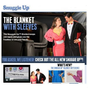 Does the Snuggie Up work