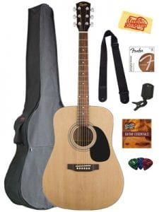 Does the Fender Squier Acoustic Guitar Bundle Work?